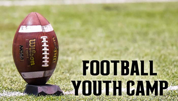 Youth Football Camp for Grades 6, 7, 8 7/22-7/25: Click headline for registration information and brochure
