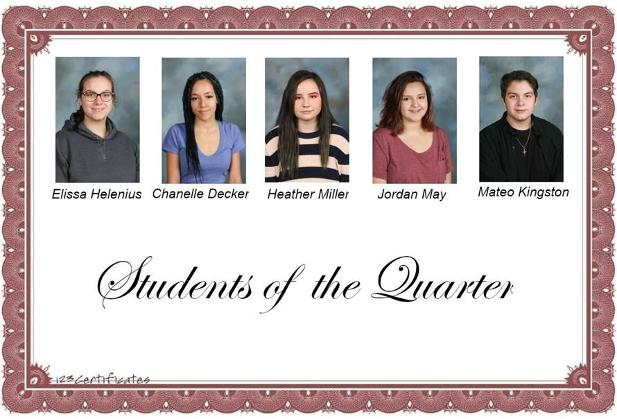 Students of the Quarter