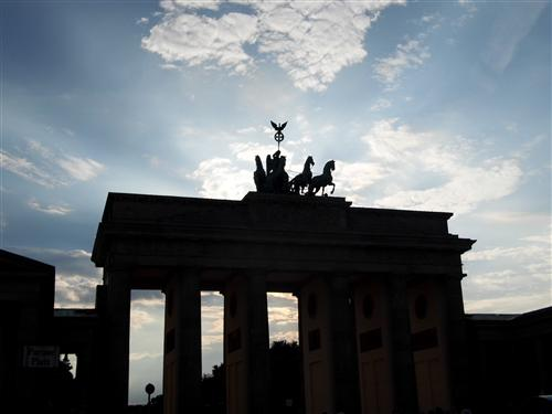 Brandenburg Gate in Berlin; the site of many of histories most iconic moments.