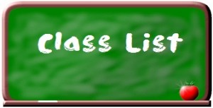 Class List: Will be posted August 24th