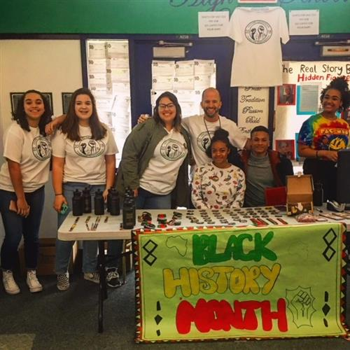 THS Cultural Awareness Club Members celebrate Black History Month