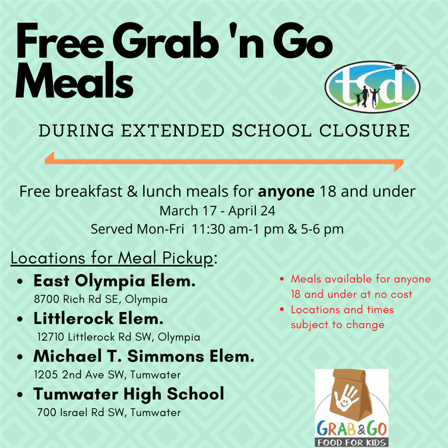 Grab 'n Go Meals During Extended School Closure