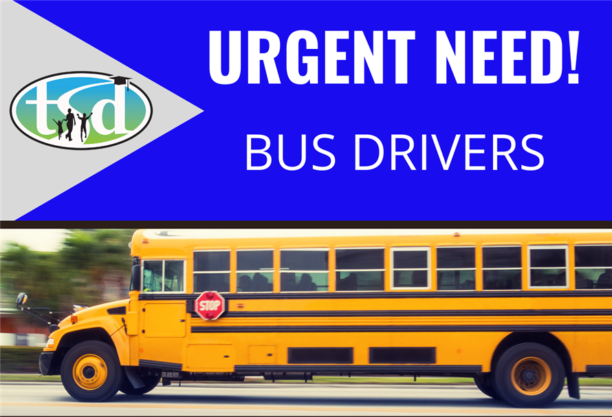 BUS DRIVERS URGENTLY NEEDED!