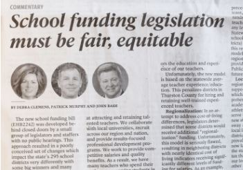 Winners and Losers: School funding legislation needs to be fair and equitable