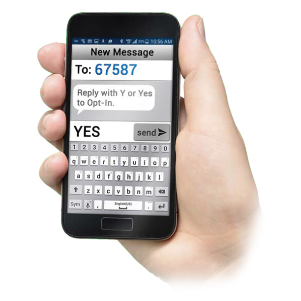 Opt-in to Receive Texts from Your School and the District