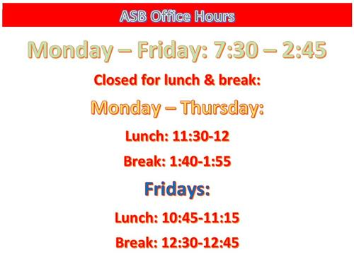 ASB Hours